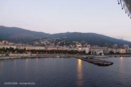 Arrivée à Bastia