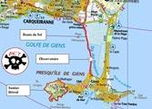 Carte - Presqu'île de Giens