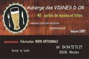 Auberge des Vignes d'Or - Néoules Var