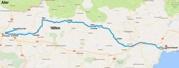 Itinéraire de la balade - Aller