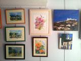Les toiles et aquarelles