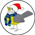 Logo Oiseau en hiver