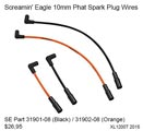 XL1200T 2015 - Screamin' Eagle 10mm Phat Spark Plug Wires - Part 31901-08 ou 31902-08