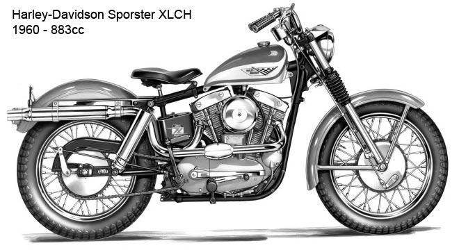 Harley-Davidson XLCH Sporster - 1960