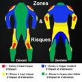 Zones de risques moto