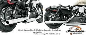 Screamin' Eagle® - Street Cannon Slip-On Mufflers - Sportster Shorty Dual