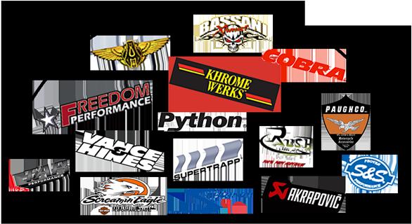 Logos fabricants d'échappement