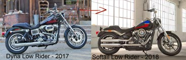 Dyna Low Rider vs Softail Low Rider