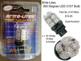 Brite-Lites 360 Degree LED Bulb Dual-function - 3157360R