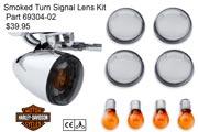 Harley-Davidson Smoked Turn Signal Lens Kit - 69304-02