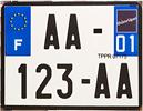 Plaque d'immatriculation des deux roues motorisés