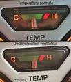 Circuit de refroidissement - Indicateur