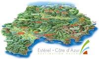 Carte Esterel - Côte d'Azur