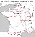 Carte France vue du Sud