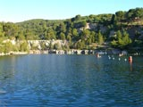 Un des lacs installé dans une ancienne carrière